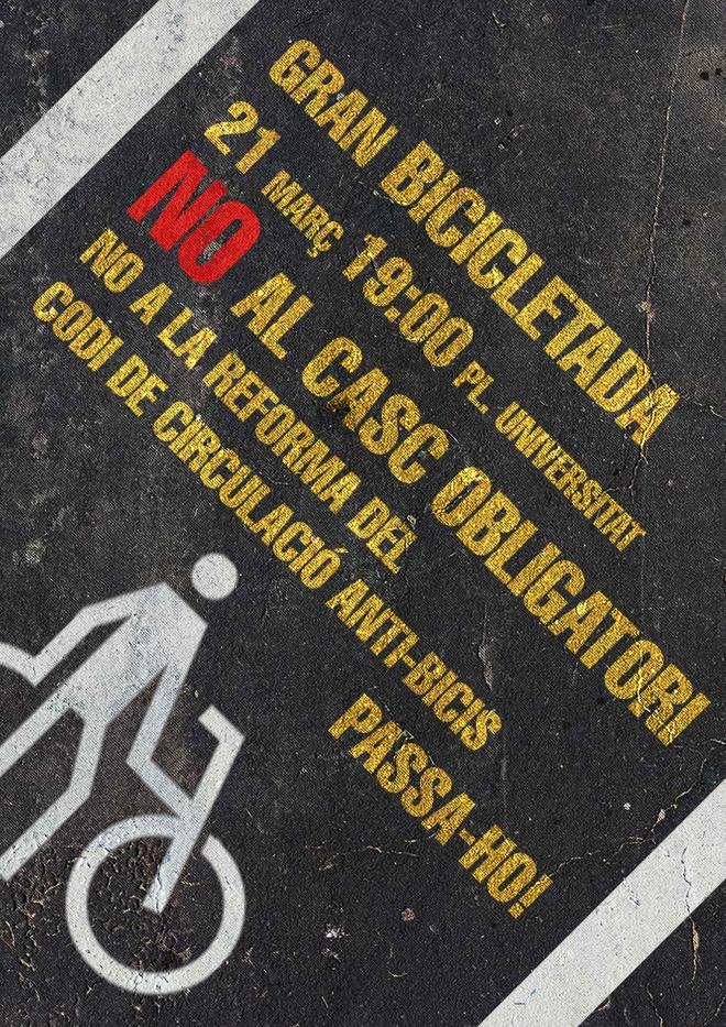 bicicletada contra la reforma del código de circulación